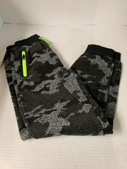 Joggers one point one, Black And Grey Camo sweatpants, L Boy