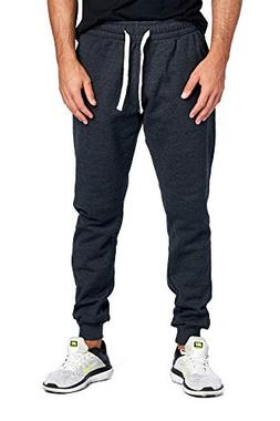 joggers sweatpants basic fleece marled