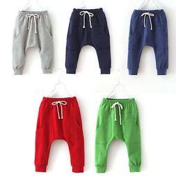 Toddler Kids Baby Boys Girls Harem Pants Casual Cotton Sweat