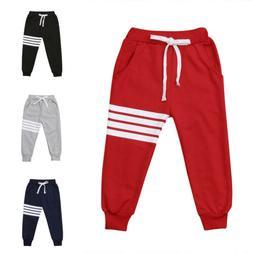 Kids Boy Girl Striped Harem Long Pants Toddler Trousers Bott