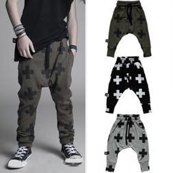 Kids Boys Printed Harem Pants Jogger Trousers Hip Hop Casaul