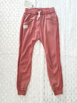 Zara kids brown low rise brown sweatpants sz 9 NWT