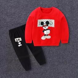 kids clothes set red pajama sweater sweatpants sweatshirt fo
