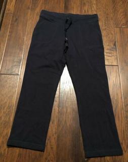 L L Bean Women's Black Lounge Sweat Pants with Pockets sz Me