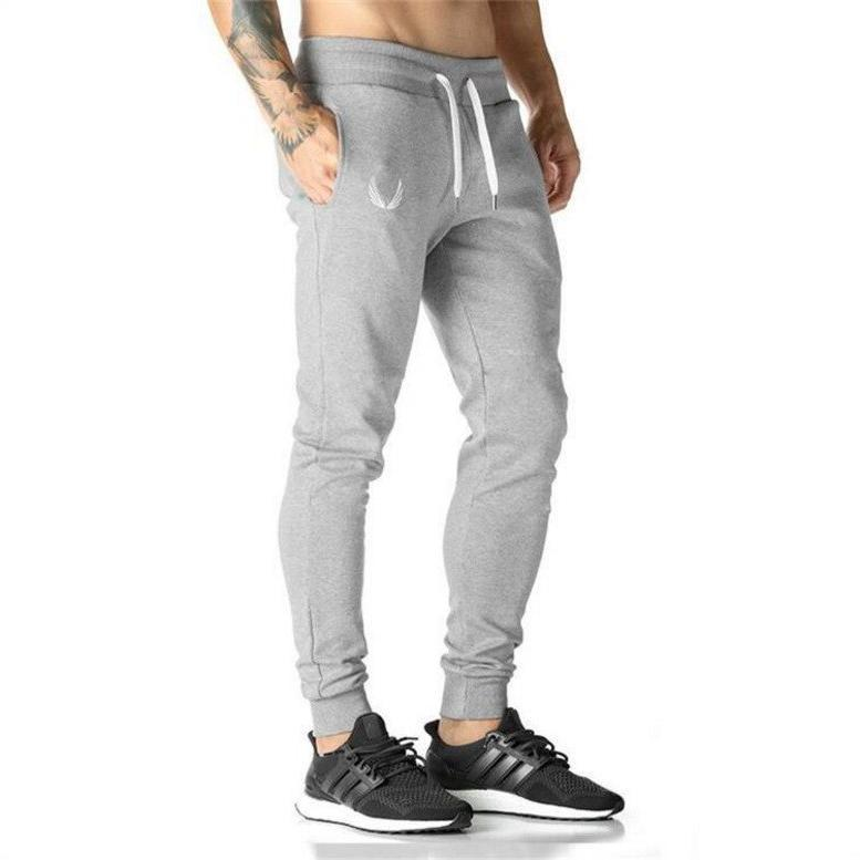 2019 Joggers Pants Casual Elastic <font><b>Mens</b></font> Fitness Skinny Trousers Pants