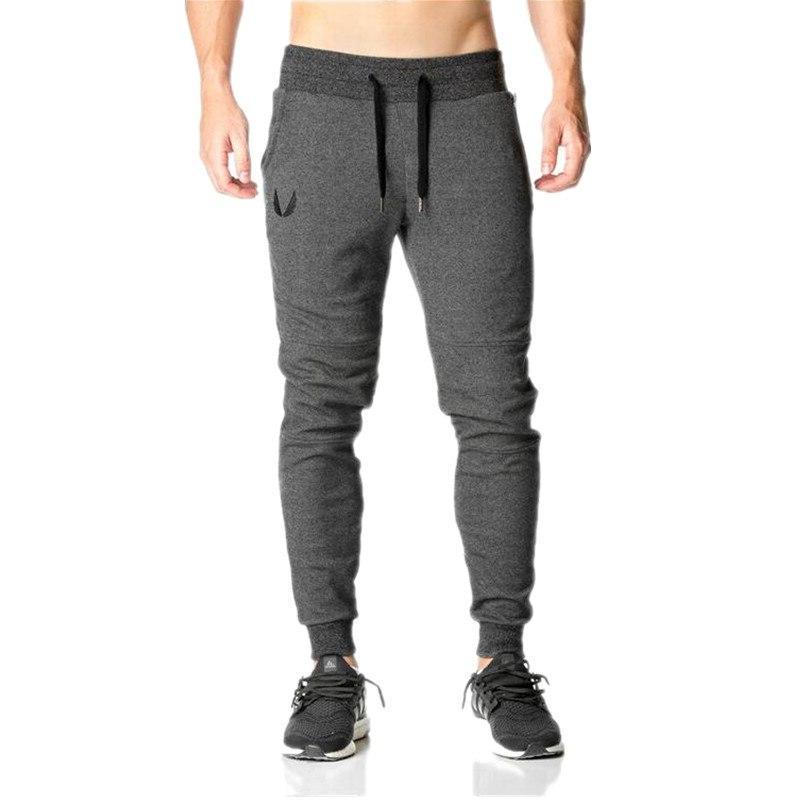 2019 Gyms Pants Elastic <font><b>Mens</b></font> Pants