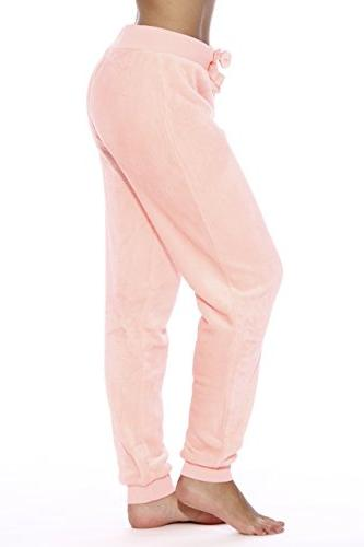 Just 6317-Neon Velour Pants/Joggers for Women