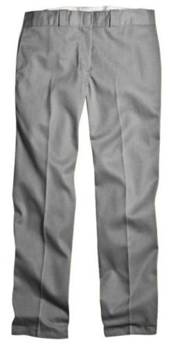 Dickies 874SV 40 28 Mens Plain Front Work Pant Silver 40 - 2