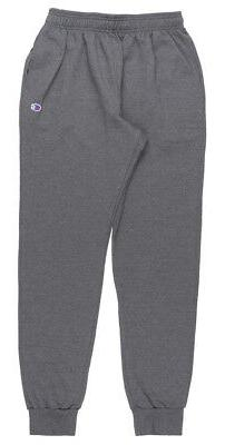 CHAMPION FLEECE SWEATPANTS ATHLETIC JOGGER PANTS MENS GRANIT