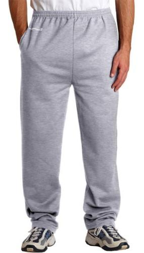 Champion 9 Oz., 50/50 Open-Bottom Pants, Light Steel, L