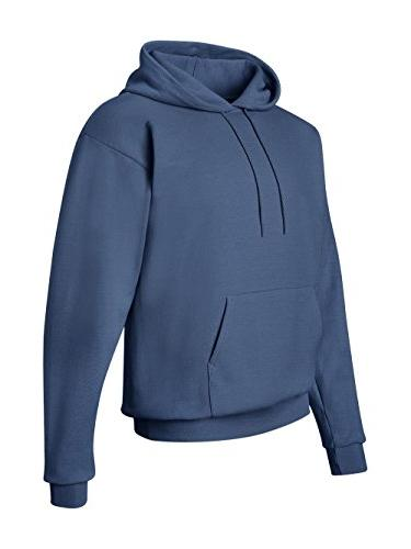 Hanes Men's Pullover Fleece Hooded Blue, Medium