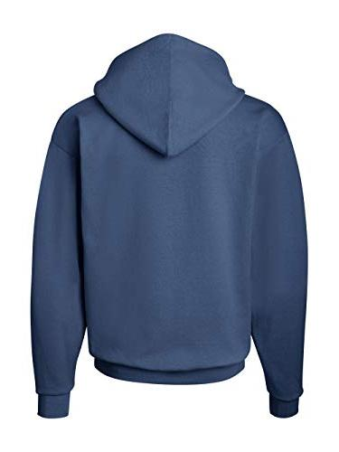 Hanes Men's EcoSmart Fleece Hooded Sweatshirt, Blue,