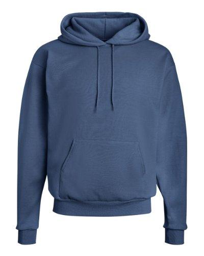 Hanes Men's Fleece Hooded Sweatshirt, Denim Blue,
