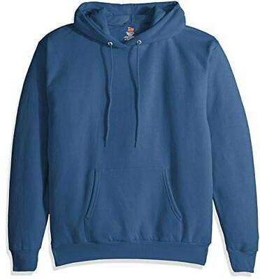 Hanes Men's Pullover EcoSmart Fleece Hooded Sweatshirt, Deni