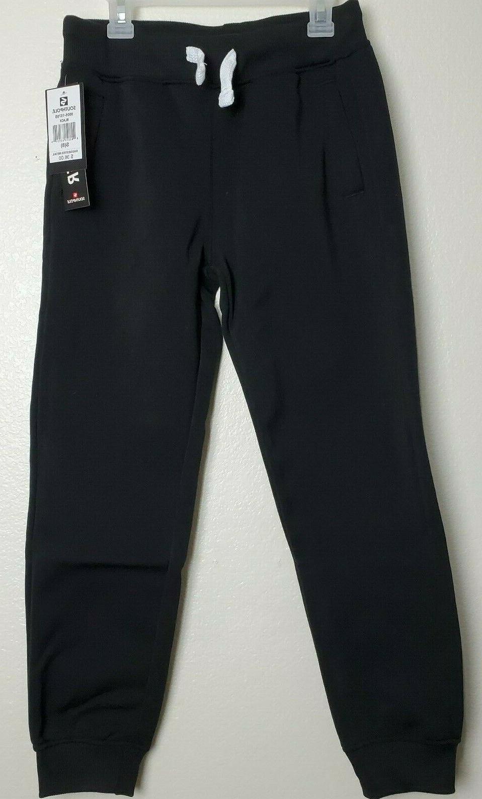 Southpole Boys' Big Active Basic Jogger Fleece Pants, Black,