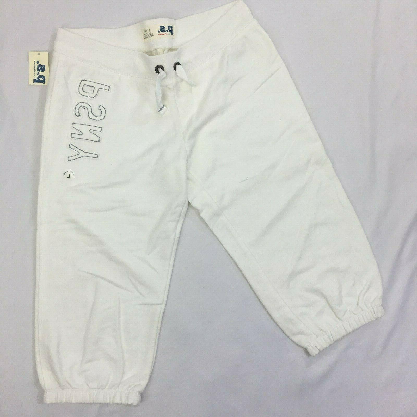 aeropostale p s white 3 4 jogger