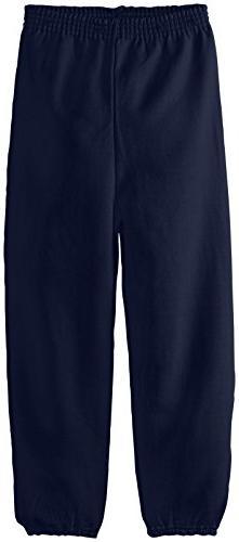 Hanes Big Boys' Eco Smart Fleece Pant, Navy, Large
