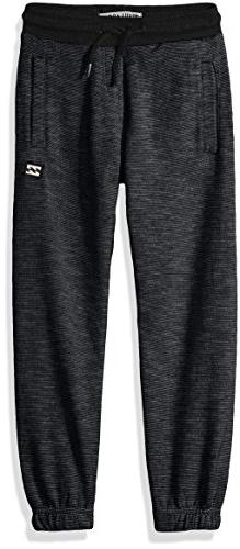 Billabong Boys' Big Classic Sweatpant, Black Heather, M