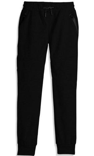 Southpole Boys' Big Tech Fleece Jogger Pants with Zipper Det
