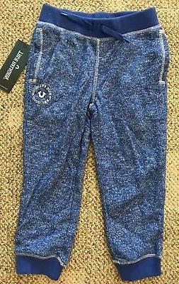 True Religion Boys Girls Blue Marled Sweatpants Athletic Pan