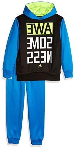 RBX Boys' Little Pullover Fleece Hoodie and Jogger Set, Blue