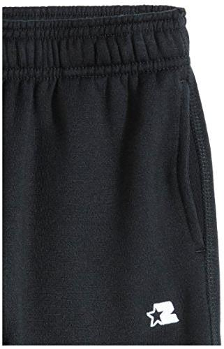 Starter Boys' Open-Bottom Sweatpants with Exclusive, Black,