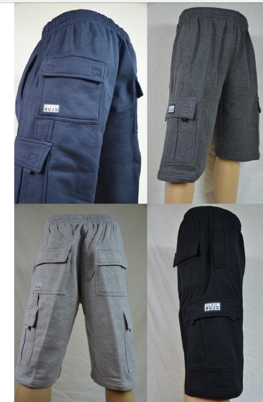cargo fleece shorts men s heavyweight joggers