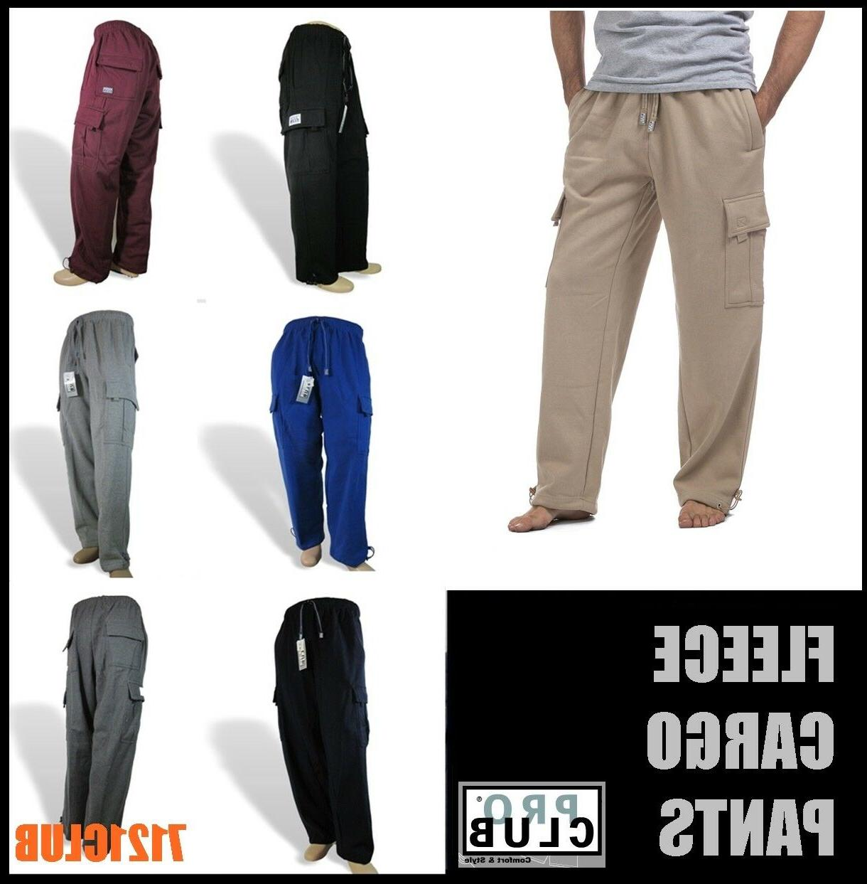 cargo pants proclub men s heavyweight fleece