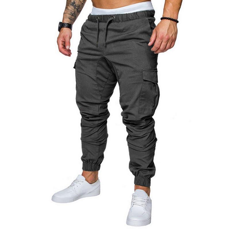 MJARTORIA <font><b>Men</b></font> Hip Hop Joggers Pants 2019 Male Trouser <font><b>Men</b></font> Solid Multi-pocket Pants Homme <font><b>Sweatpants</b></font> Dropshipping