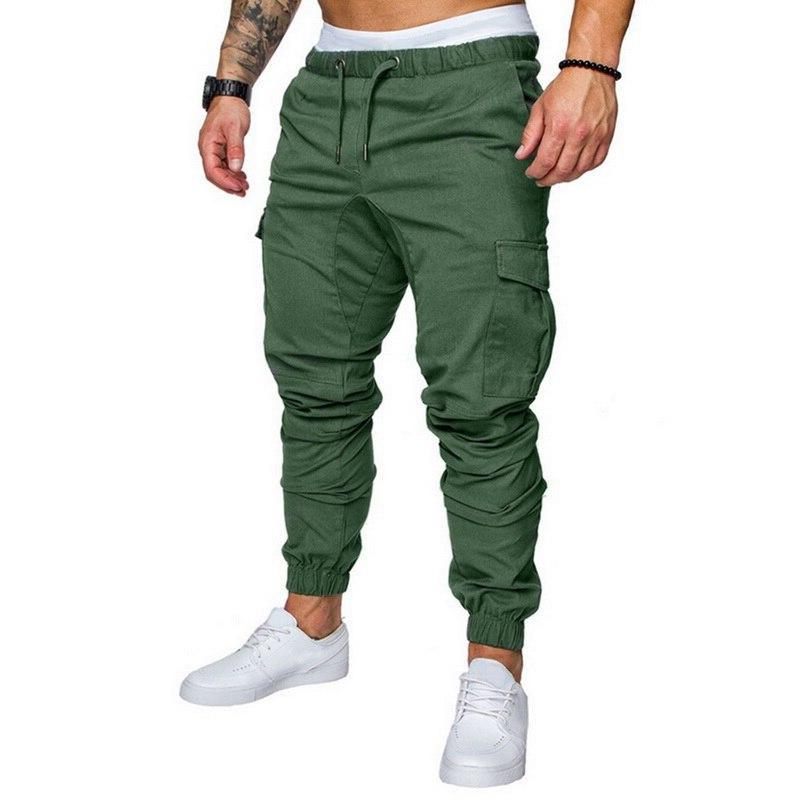 MJARTORIA Hip Hop Joggers 2019 Trouser <font><b>Men</b></font> Solid Multi-pocket Pants <font><b>Sweatpants</b></font> Dropshipping