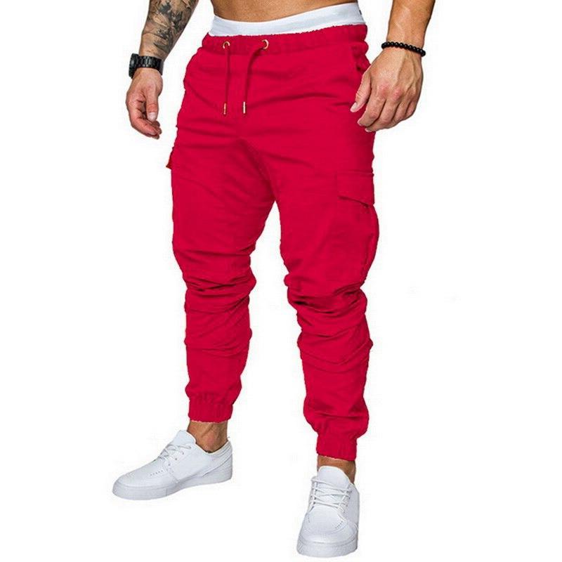 MJARTORIA <font><b>Men</b></font> Pants Hip Hop Joggers Pants 2019 Male Trouser <font><b>Men</b></font> Solid Multi-pocket Pants <font><b>Sweatpants</b></font>
