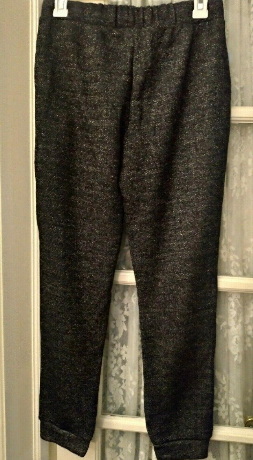 Cat Black XL14/16 Pants Drawstring Pockets Sparkle Glitter