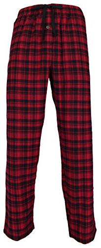 Casual Trends Classical Men's Flannel Pajama Red