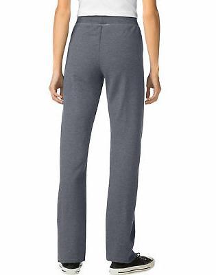 "Hanes ComfortSoftâ""¢ Women's Open Fleece Sweatpants"