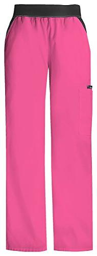 Cherokee Women's Contratsted Knit Waist Pull-On Pant_Shockin