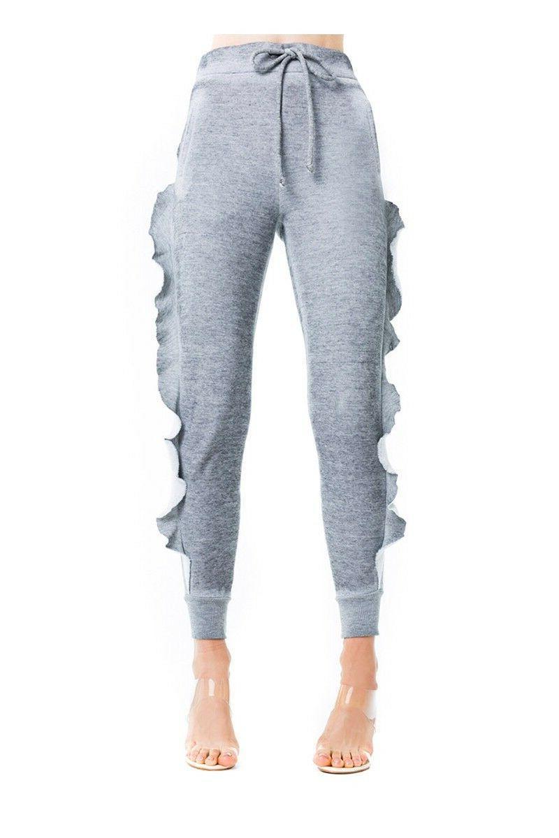 WILDFOX Ruffled Sweatpants, or L, NEW,