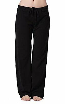 CYZ Women's Basic Stretch Cotton Knit Pajama Sleep Lounge Pa