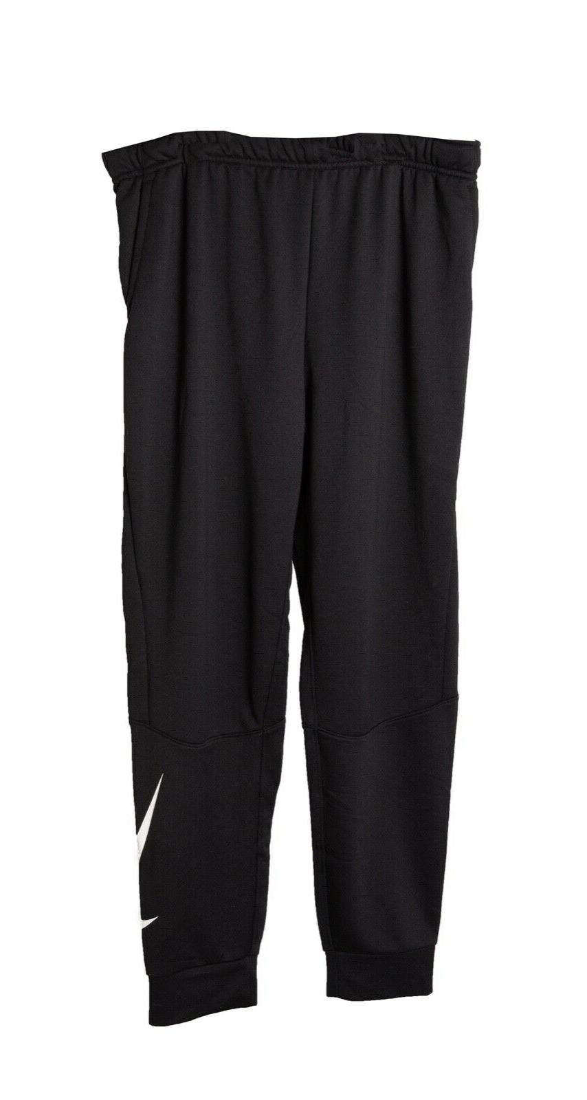 dri fit taper sweatpants new black white
