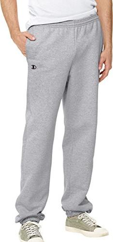 Champion Eco Fleece Elastic-Hem Men's Sweatpants_Oxford Gray