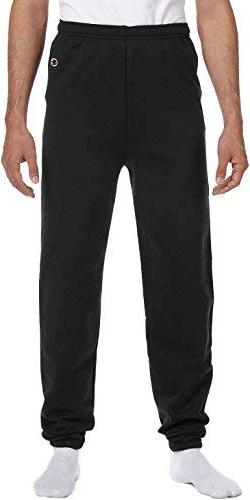 Champion Eco 9 Oz. Fleece Pant, Large, Black