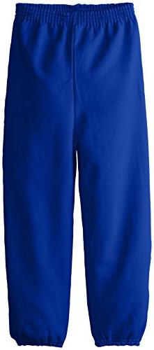 Hanes Big Boys' Eco Smart Fleece Pant, Deep Royal, Small