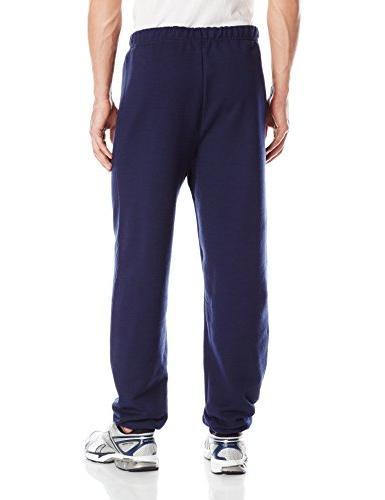 Jerzees Elastic-Bottom Sweatpant, Navy,