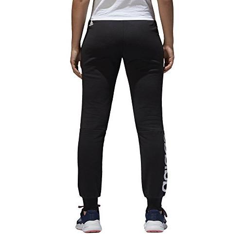 adidas Women's Essentials Linear Pants, Black/White,