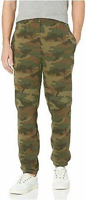 Essentials Men's Closed Bottom Fleece Pant, Black,, Green Ca