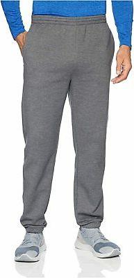 Essentials Men's Closed Bottom Fleece Pant, Black,, Grey, Si