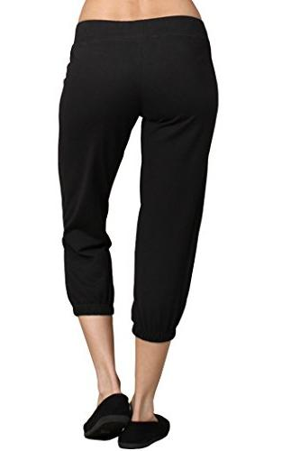 Ever77 Athleisure Cropped Jogger Pants/S,M,L,XL/TP1030DO-Black,M