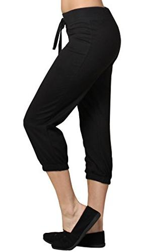 Ever77 Athleisure Jogger Pants/S,M,L,XL/TP1030DO-Black,M