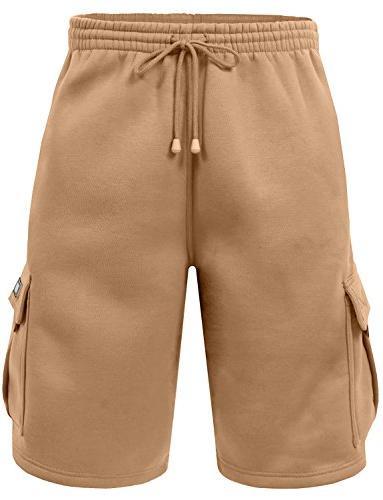 fleece cargo shorts for men xx large
