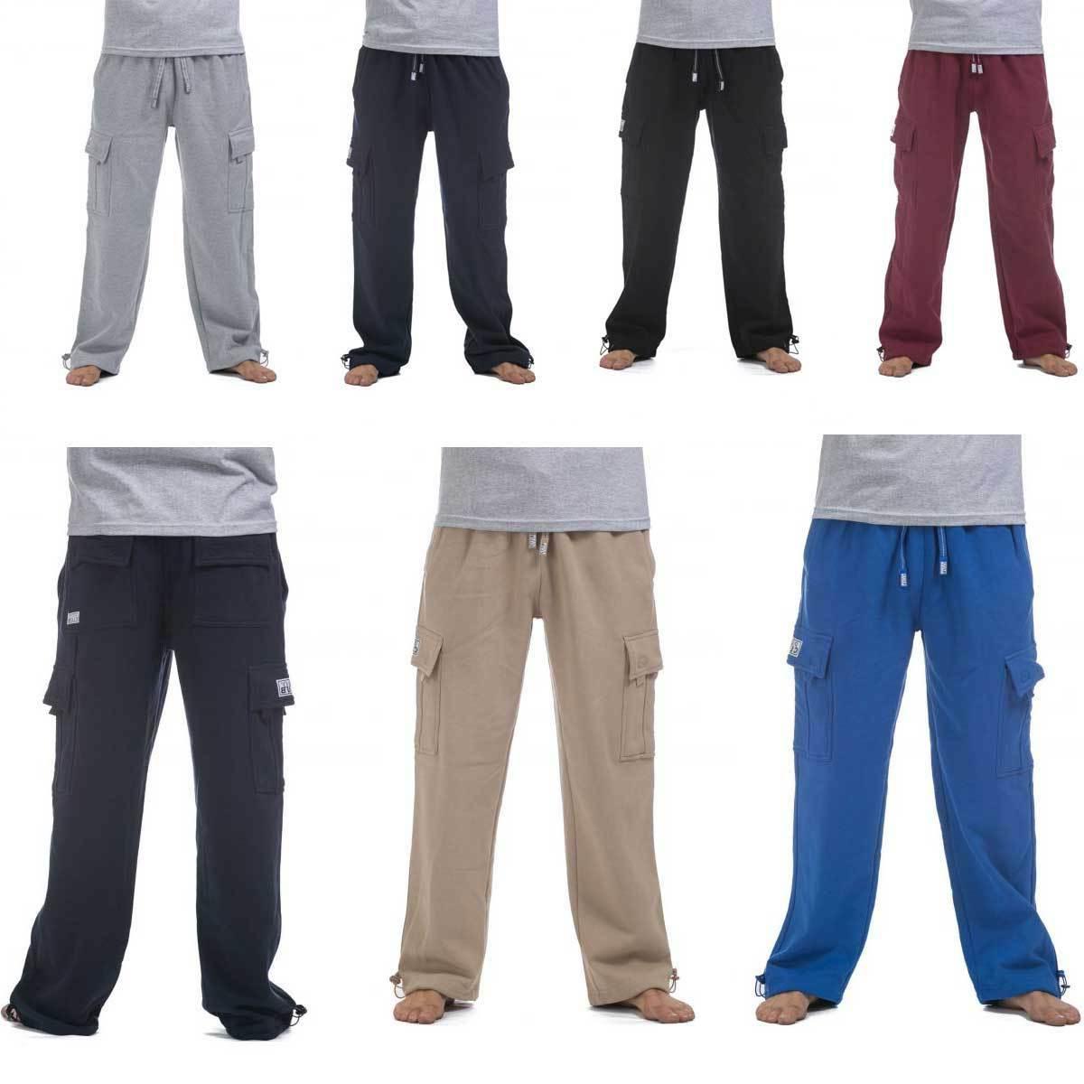 fleece cargo sweat pants proclub men s