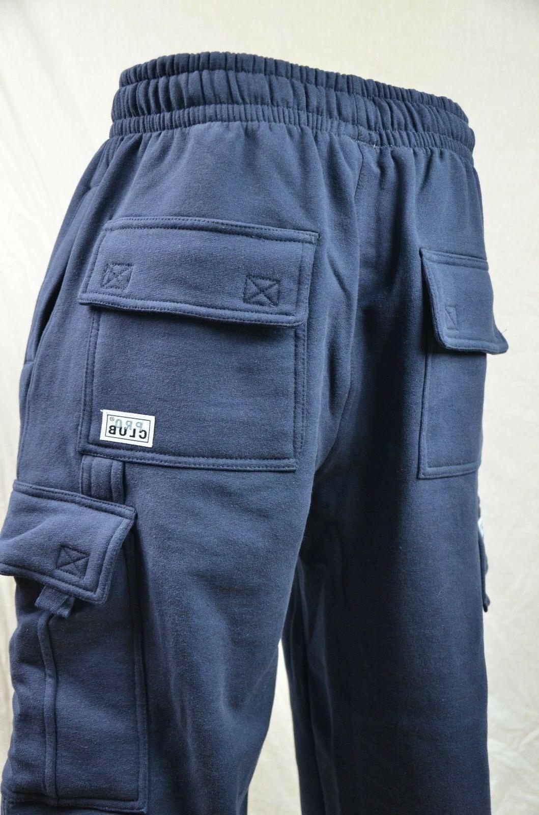 Pro Fleece Cargo Sweatpants Navy Blue